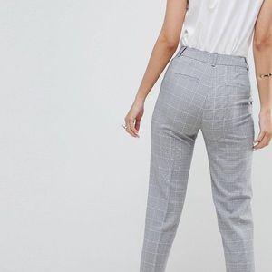 ASOS cigarette pants in mono check